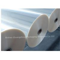 China Thermal Lamination Transparent BOPP Film For Food Packaging 2400m - 2800m Length wholesale