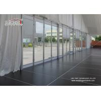 China Clear Span Outdoor Exhibition Tents Wedding Reception Glass Windows wholesale