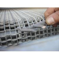 China High Grade Stainless Steel Flat Wire Conveyor Belt  Ceramics Use Honeycomb Type wholesale