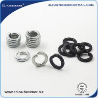 China DIN127A High Tensile Washers Spring Lock Washer Yellow Zinc / White Zinc Plated wholesale