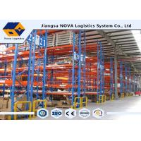 China Plastic Powder Coating Heavy Duty Adjustable Shelving , Mobile Pallet Racking System For Palletized Goods wholesale