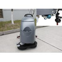 China Two Brushes Commercial Floor Cleaning Machines With Solution Level Checking Hose on sale