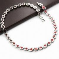 China Necklace in Titanium Stainless Steel, with 4,000 Gauss Magnetic FIR, 4-in-1 wholesale
