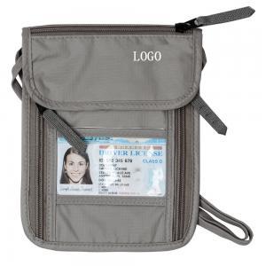 China Ripstop Nylon Grey RFID Travel Bags Waterproof Travel Waist Money Belt wholesale