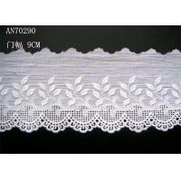 China Cotton Lingerie Lace Fabric / Embroidery Lace Fabric For Garment wholesale