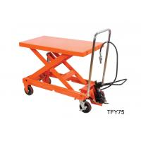 China Luxury Pneumatic Lift Table , Hydraulic Scissor Table Truck 750Kg 16501b Load Capacity wholesale