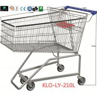 Quality Flat Basket Wire Mesh Metal Shopping Carts With PVC , PU , TPR Wheels for sale