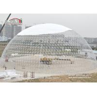 China 60m Outdoor Geodesic Dome Tents With Transparent PVC For F1 Event wholesale