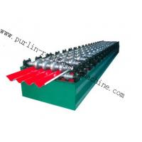 China PLC Hydraulic Ridge Cap Roll Forming Machine , Automatic Galvanized Metal Rolling Form Line wholesale