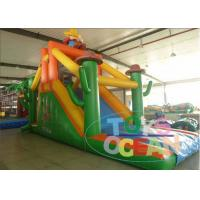 China Orange Family Simple Inflatable Obstacle Course For Commercial 17M wholesale