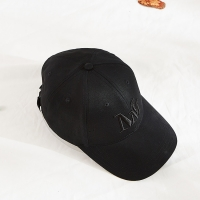 China Blank Pattern Cotton Twill Embroidered Baseball Caps Black Color wholesale
