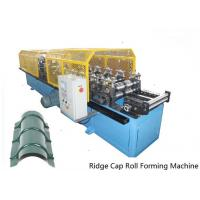 China 14 Stations Ridge Cap Roll Forming Machine For Cinema / Theatre / Garden wholesale