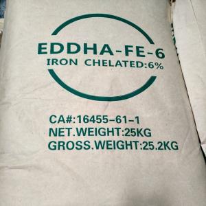 China Ethylenediamine Two Adjacent Hydroxyphenyl Big Iron Sodium Acetate EDDHA Fe 6% wholesale