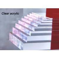 China Indoor / Outdoor Clear Acrylic Sheet 80% - 90% Light Transparency For Engraving Letters wholesale