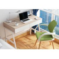 China White Learning Desktop Computer Desk , 1 Meters Creative Compact Computer Table With Drawer wholesale