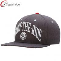China Womens Snapback Baseball Caps with Plastic Back Closure , 3D Embroidery wholesale