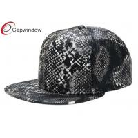 China Adjustable 3D Embroidered Baseball Hats Snakeskin Baseball Cap For Youth wholesale