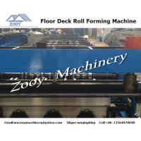 China Galvanized Steel Sheet Metal Deck Roll Forming Machine For Building wholesale