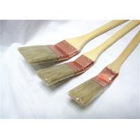 China Natural Bristle Radiator Paint Brush Wooden Long Handle For Wall Painting / Cleaning wholesale