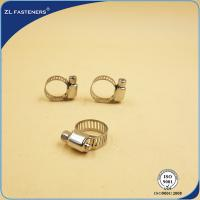 China Zinc Plated 316 Stainless Steel Hose Clamps Quick Release Yellow / Bright Color wholesale