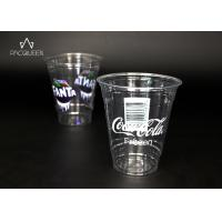 China Custom Branding Clear Plastic Cups , Pet Plastic Cups Eco Friendly wholesale
