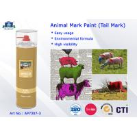 China Fast Drying Waterproof Spray Animal Mark Paint for Pig / Sheep / Horse Tail Purple Red Green wholesale