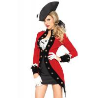 China Military Red Coat Womens Sexy Costumes  Halloween Party Dress wholesale