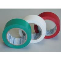 China Green / White Stabilized Floor Marking Tape Adhesive Insulation Plasticized PVC Matte Film on sale