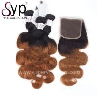 """Buy cheap 12"""" - 30"""" Blonde Ombre Hair Extensions 2 Tone 1B / 30# Natural Black Dark Root from wholesalers"""