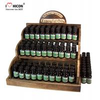 China Counter Display Rack Fragrance Wooden Essential Oil Display Rack wholesale