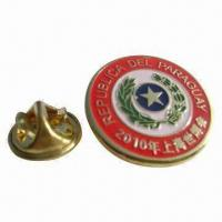 China Epoxy Metal Pin, 0.3 to 1.5mm Thickness, Die-cast, Electroplated, Customized Moldings are Accepted wholesale