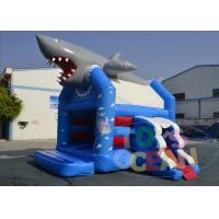 China Ocean Theme Shark Sea Park Inflatable Jumping Castle With Slide 0.55 PVC wholesale