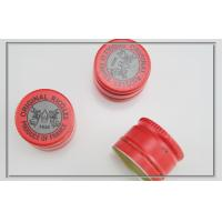 Quality red Aluminium Pilfer Proof Caps with logo printing , ricqles peppermint packaging aluminium bottle caps for sale