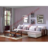 China Solid Wooden Frame with Fabric Sectional Sofa in Home Furniture Set wholesale