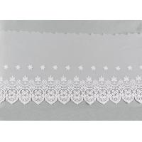 Buy cheap Openwork Embroidered Nylon Lace Fabric Bilateral Symmetry Lace For Wedding Dresses from wholesalers