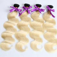 China New arrival high quality 8A brazilian body wave human hair ombre black root to blonde hair weft on sale