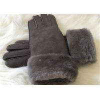 Buy cheap Shearling Sheepskin Gloves Hand Sewing Women Ladies Lamb Fur Winter Gloves from wholesalers