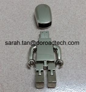 High Quality ALL Metal Robot USB Flash Drive 2.0, Gift USB Drives with Laser Printing Logo