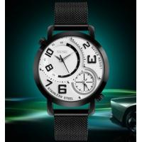 China Skmei Fashion Large Dial Dual Movement Men Stainless Steel Quartz Wrist Watches 9168 wholesale