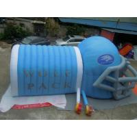 China Cheap Inflatable Helmet Tunnel, mascot Football blast tunnel for sale wholesale
