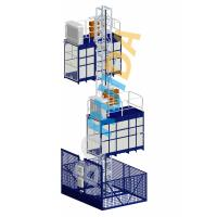 China Blue Cage Of Construction Hoist Elevator , Construction Material and Personal , Single Lifting Cage wholesale