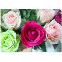 China Silk Simulation Artificial Flower Stems Sponge Paper Flowers Rod  with White wholesale