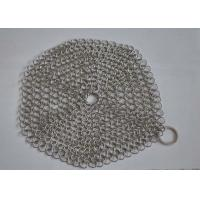 China Custom Pan Stainless Steel Chainmail Scrubber 10mm Outside Diameter , Eco Friendly wholesale