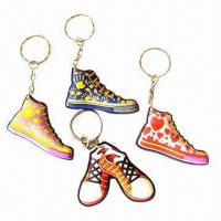 China Keychains, made of acrylic/plastic, various shapes and sizes are available, OEM orders are welcome wholesale
