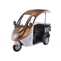 China Smart Digital LED Display Electric Tricycle Passenger , 1200W Brushless Motor Enclosed Bicycle Car wholesale