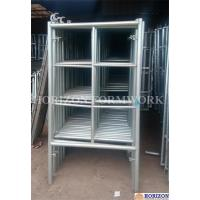 China 2 Horizontal Rungs Frame Scaffolding System 5' X 5' Size For Construction wholesale
