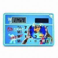 China Solar/Dual-power Calculator, Comes in Credit Card Size and Super-thin, with Eight Digit LCD Display on sale