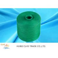 China Green Polyester Dyed Yarn 50 / 2 ,  Eco - Friendly Polyester Twisted Yarn Good Evenness wholesale