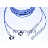 China Din 1.5 Colorful TPU EEG cup electrodes with AgCl Plated Cup ,1.5m Brain Wires wholesale