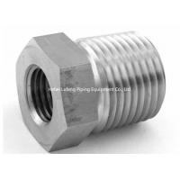 China Stainless Steel NPT Thread Forged Tube Fittings 1/2 Male NPT Metric Reducing Bushing on sale